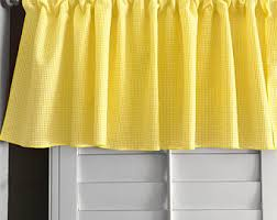 Yellow Valance Curtains Yellow Valance Etsy