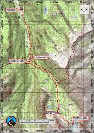 Map Utah Hiking Amethyst Basin Uinta Mountains Road Trip Ryan