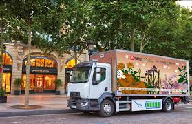 electric truck renault all electric truck hits paris electric vehicle news