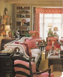 decorating living room french country decor with red window