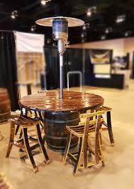Patio Heater Table Barrel Table Patio Set W Heater The Beautiful Barrel