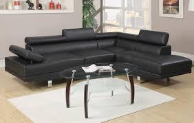Sectional Sofa Black 2 Pcs Sectional Sofa Black Or White American Discount Furniture