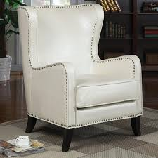 White Leather Accent Chair Absolutely Smart White Leather Accent Chair Living Room