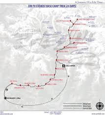 Map Of Everest Jiri To Everest Base Camp Trek Everest Jiri Trek Core Treks