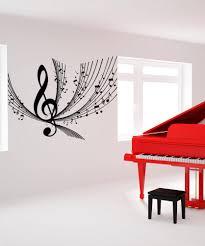 vinyl wall decal sticker music notes design 1173