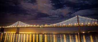 Bay Bridge Lights The Bay Lights Demo Test Night Justin Yu Photography