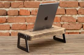 Diy Ipad Charging Station Wooden Ipad Holder Ipad Docking Station Tablet Wooden Stand