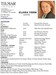 voice over actor resume voice over resume how to make an acting
