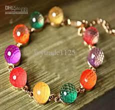 glass beads bracelet images Fashion style candy color glass beads bracelet cosplay bracelet jpg