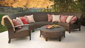 Modular Wicker Patio Furniture - del mar curved modular seating frontgate 2014 outdoor book