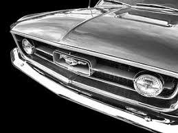 67 Mustang Black 67 Mustang Art Fine Art America