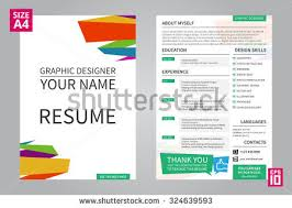 graphic design resume sample graphic designer resume template vector download free vector art