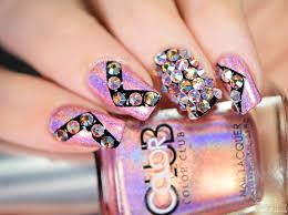 simply nailogical crystal bling nails with the crystal katana