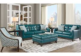 teal blue leather sofa reina green 3 pc leather living room leather living rooms green