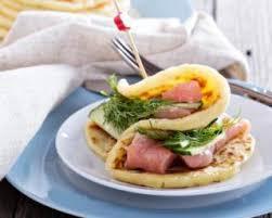 cuisine pour d饕utant recette de pancakes salés saumon concombre et aneth pour débutant