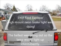 1996 ford explorer tail light assembly 1997 ford explorer high mount brake light conversion to led youtube