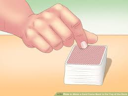 how to make a card come back to the top of the deck 6 steps