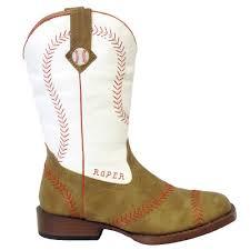 boys baseball square toe cowboy boots