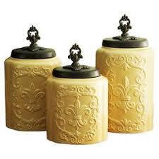 fleur de lis canisters for the kitchen 3 brittanie canister set kitchenware