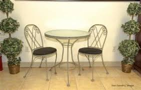Wrought Iron Bistro Table Glass Top Bistro Table Set Foter
