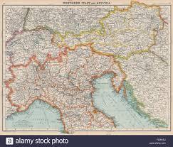 Northern Italy Map by North Italy U0026 Austria Italian Istria U0026 Zara Zadar Free State Of