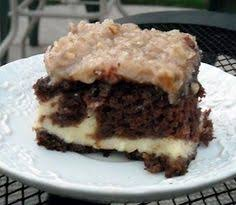 gooey upside down german chocolate cake by lupe food pinterest