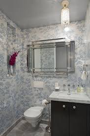 bathroom with wallpaper ideas unique wallpaper ideas apartment in new york