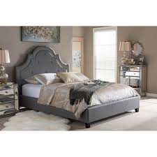 Baxton Studio Platform Bed Give Your Bedroom A Regal Look With This Baxton Studio Colchester
