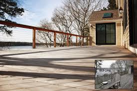 cape cod designs kurzhaus designs inc cable railing deck ranch remodel cape cod