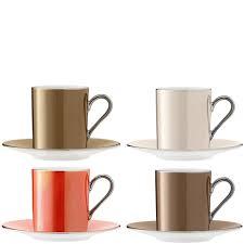 espresso coffee clipart set of 4 lsa polka espresso coffee cups u0026 saucers metallics