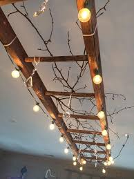 Home Decor With Lights 10 Wonderful Diy Home Decor Ideas In Budget 3 Wooden Ladder