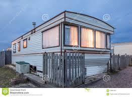 Mobile House Mobile Home On A Trailer Park At Dusk Stock Photo Image 57887262