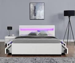 Led Bed Frame Led Bed Frame Harmin Led Bed With Bluetooth 4 Storage