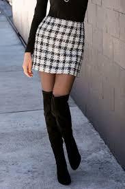 tweed skirt plaid tweed mini skirt boston proper