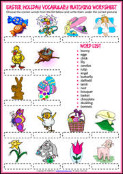 easter holiday esl printable worksheets and exercises
