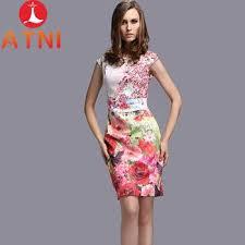 dress pattern brands 2016 high quality summer women fashion brand sweet print floral
