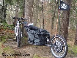 fabriquer son porte velo la remorque électrique avec kit vélo 1000w aevon cycloboost kit