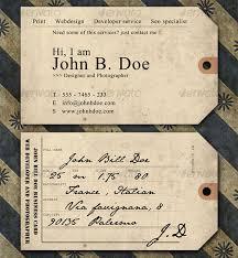 15 top vintage business card designs crs indesign templates