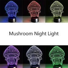 novelty 3d mushrooms night light lamp gadget led lighting home