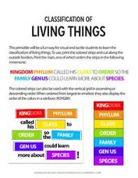 Characteristics Of Living Things Worksheet Middle Classification Of Living Things Chart Dc3b13d5 1132 4675 86d3