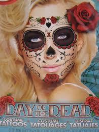 free temporary costume makeup sugar skull day of