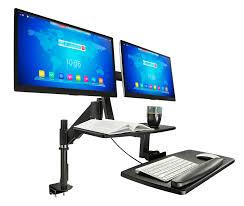 Lx Hd Sit Stand Desk Mount Lcd Arm by Stand Up Sit Down Desk Attachment Decorative Desk Decoration