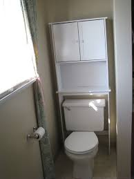 simple bathroom space saver over toilet white with wooden