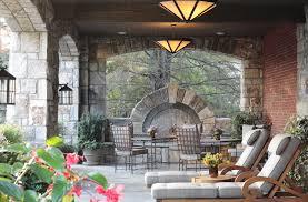 modern rustic balcony brick comfortable stone branches arches