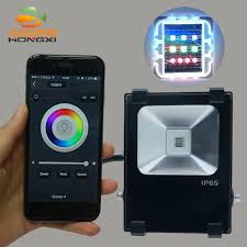 Rgb Landscape Lights Iproled Wifi App 10w Rgb Led Floodlight Outdoor Lighting