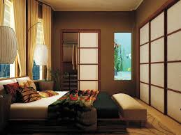 bedroom contemporary japanese style bedroom with black frame bed