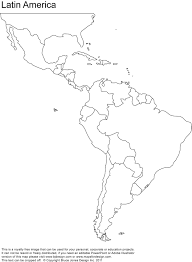 free blank map of north and south america best blank map of latin