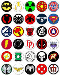 marvel cake toppers 30 x logos rice paper fairy cup cake toppers