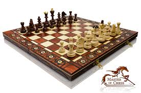great u0027 u0027senator u0027 u0027 wooden chess set stunning hand crafted board
