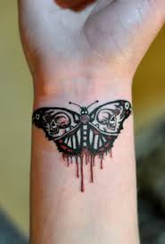 bleeding butterfly wrist